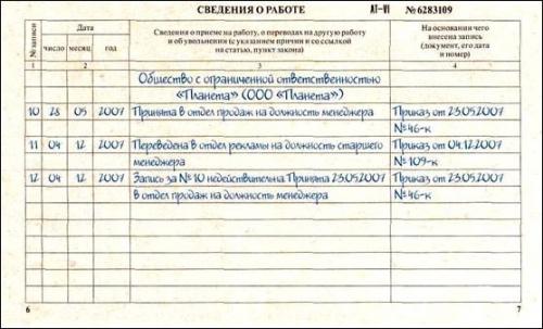 Как сделать запись в трудовой книжке о недействительной записи помощь в получении ипотеки в екатеринбурге